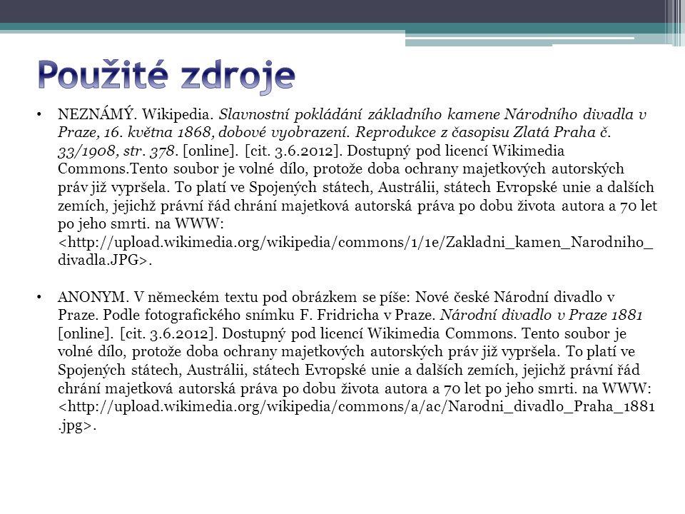 NEZNÁMÝ. Wikipedia. Slavnostní pokládání základního kamene Národního divadla v Praze, 16.