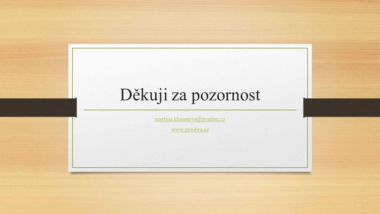 Děkuji za pozornost martina.klimesova@gymbru.cz www.gymbru.cz