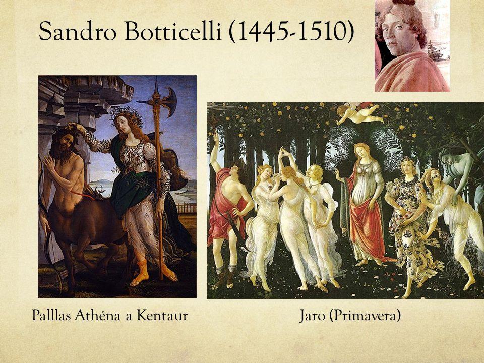 Sandro Botticelli (1445-1510) Palllas Athéna a KentaurJaro (Primavera)