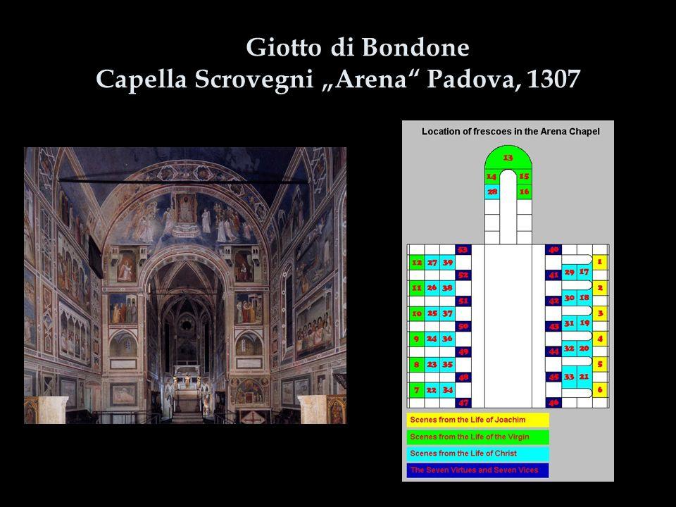 """Giotto di Bondone Capella Scrovegni """"Arena"""" Padova, 1307"""