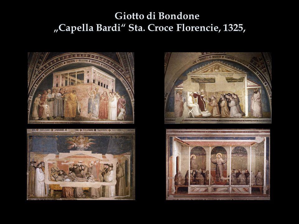 """Giotto di Bondone """"Capella Bardi Sta. Croce Florencie, 1325,"""