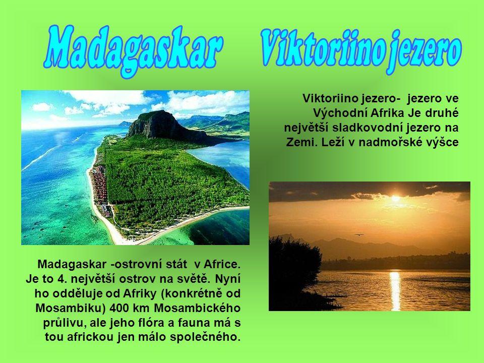 Madagaskar -ostrovní stát v Africe. Je to 4. největší ostrov na světě.