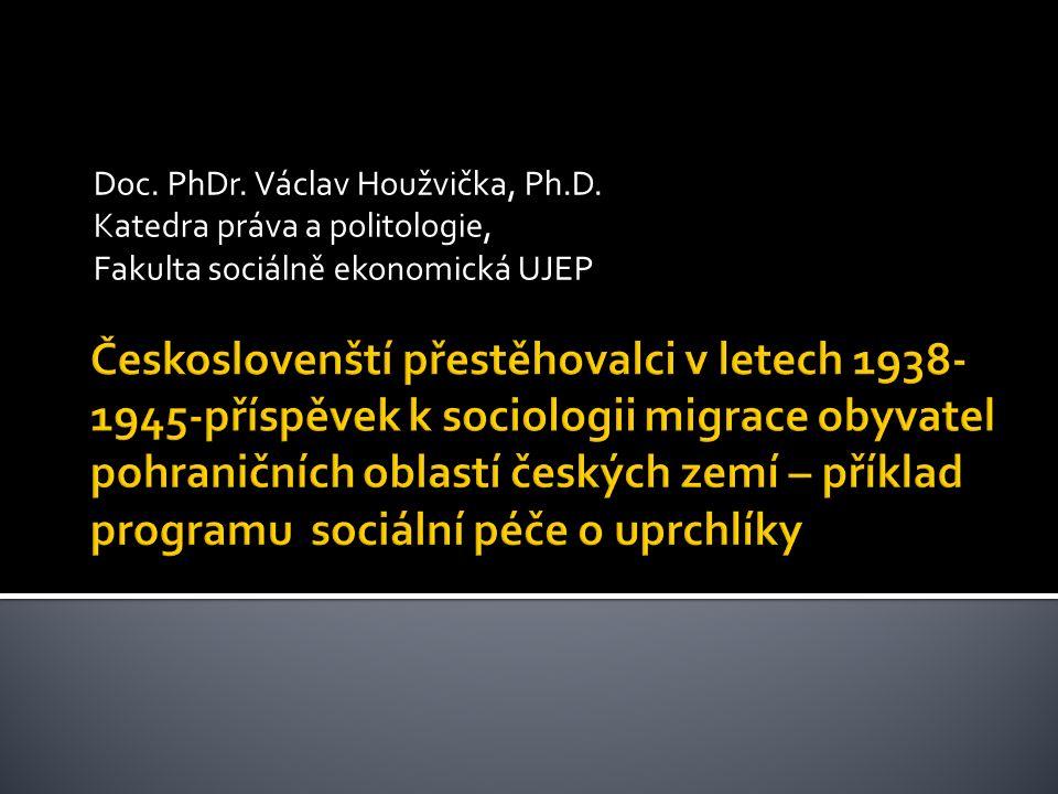 Doc. PhDr. Václav Houžvička, Ph.D. Katedra práva a politologie, Fakulta sociálně ekonomická UJEP