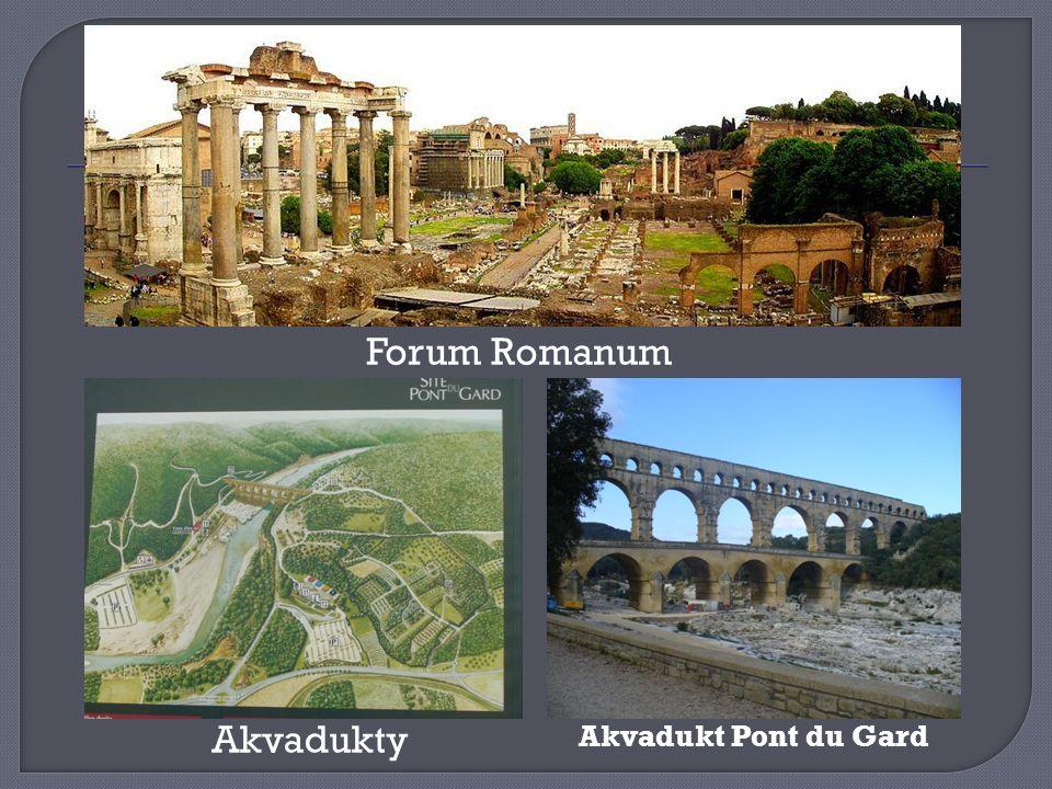 Forum Romanum Akvadukty Akvadukt Pont du Gard