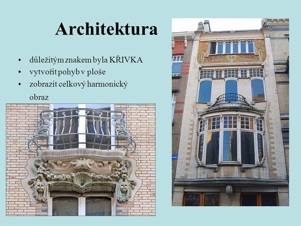 Architektura důležitým znakem byla KŘIVKA vytvořit pohyb v ploše zobrazit celkový harmonický obraz