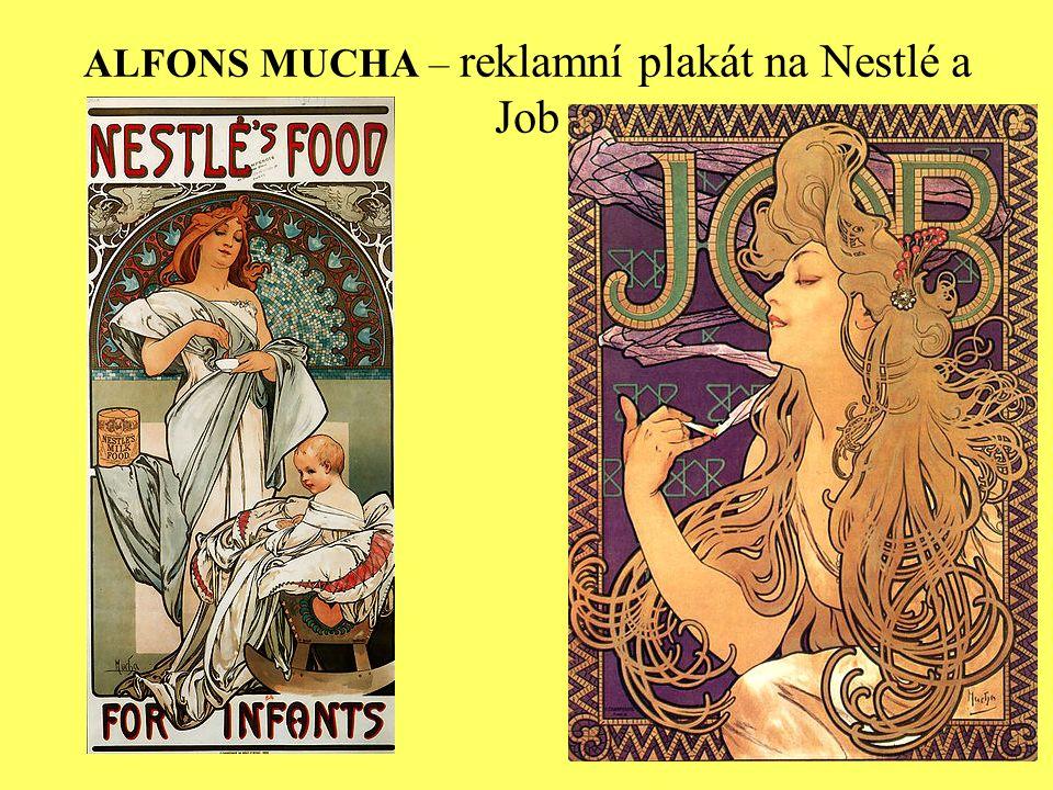 ALFONS MUCHA – reklamní plakát na Nestlé a Job