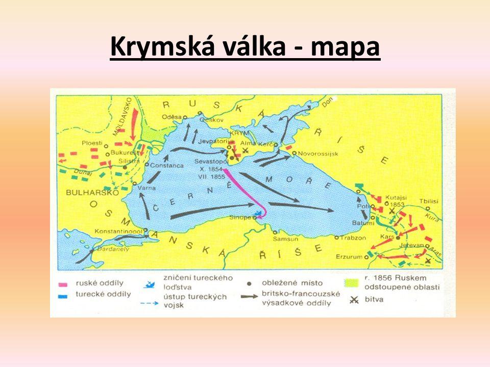 Krymská válka - mapa