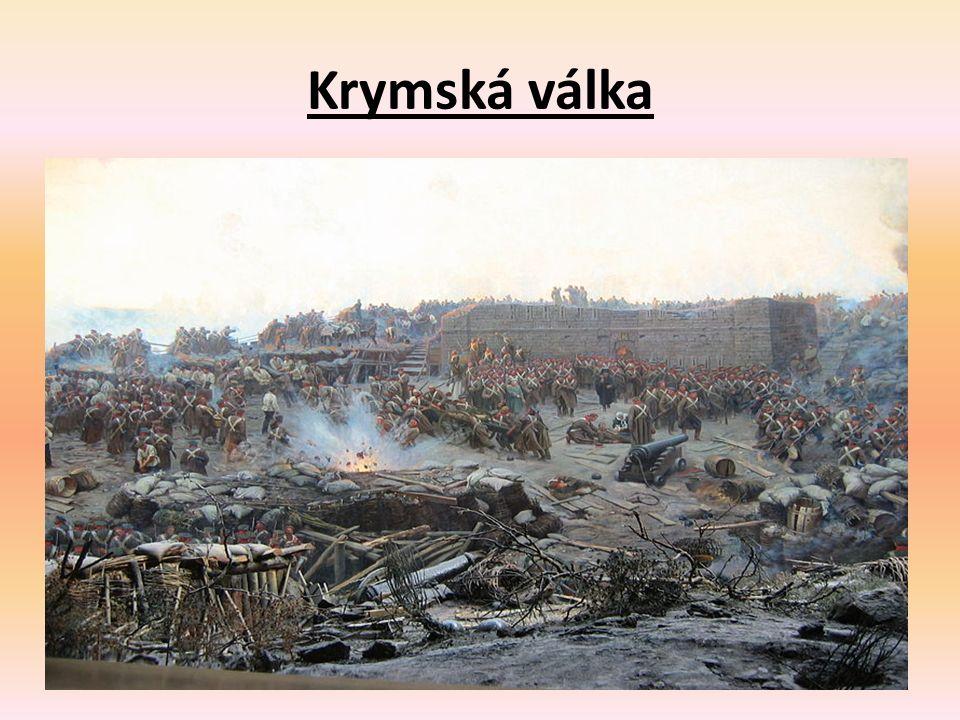 Krymská válka - pokračování Černé moře a mořské úžiny Bospor a Dardanely byly prohlášeny za neutrální.