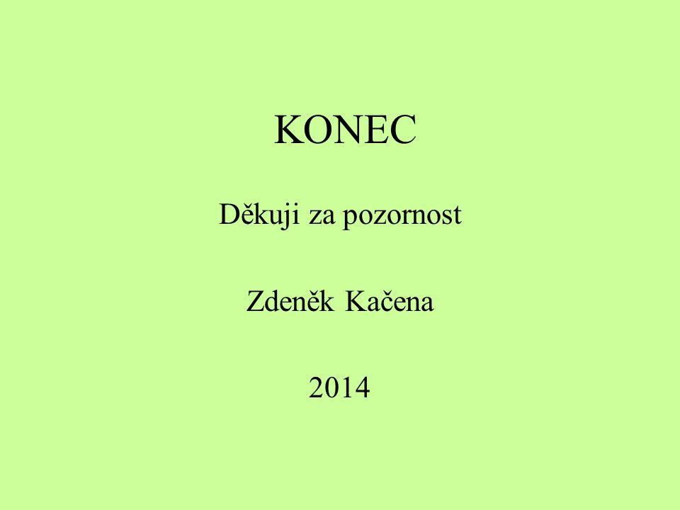 KONEC Děkuji za pozornost Zdeněk Kačena 2014