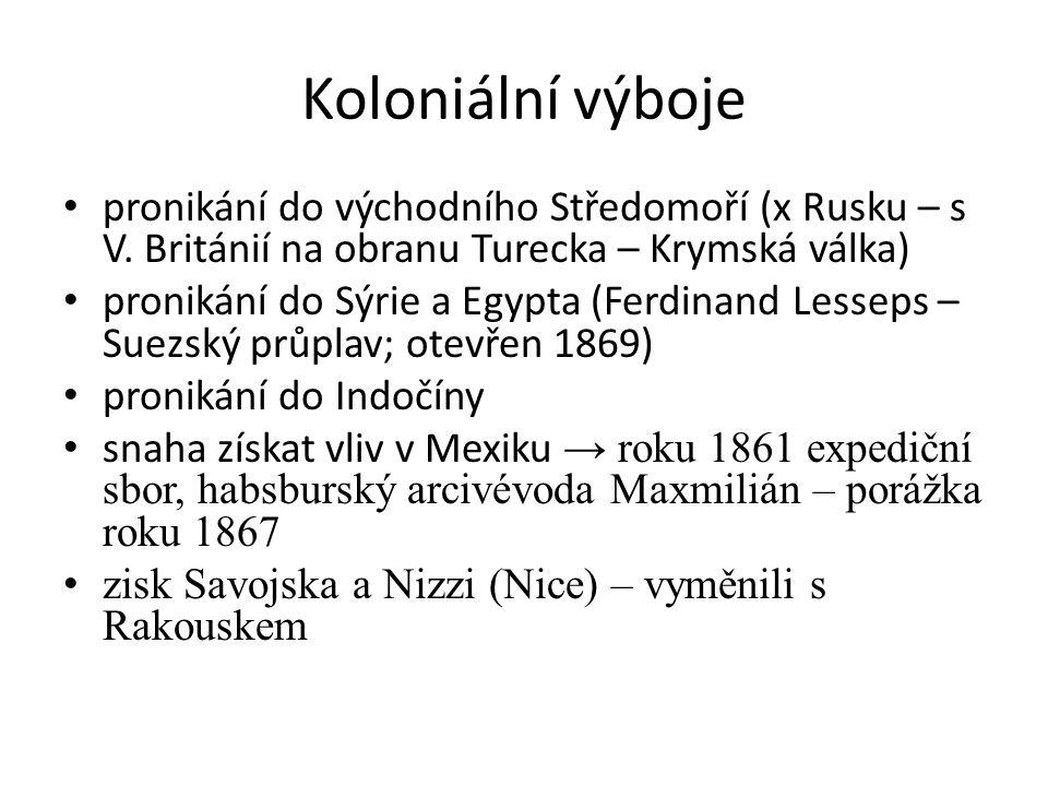 Koloniální výboje pronikání do východního Středomoří (x Rusku – s V.