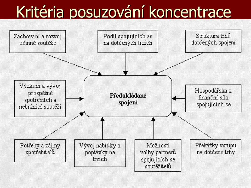 Kritéria posuzování koncentrace
