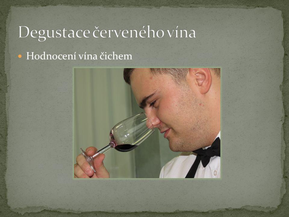 Hodnocení vína čichem