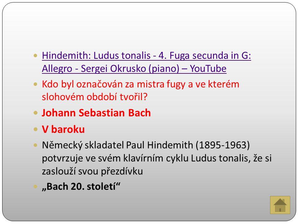 Hindemith: Ludus tonalis - 4.