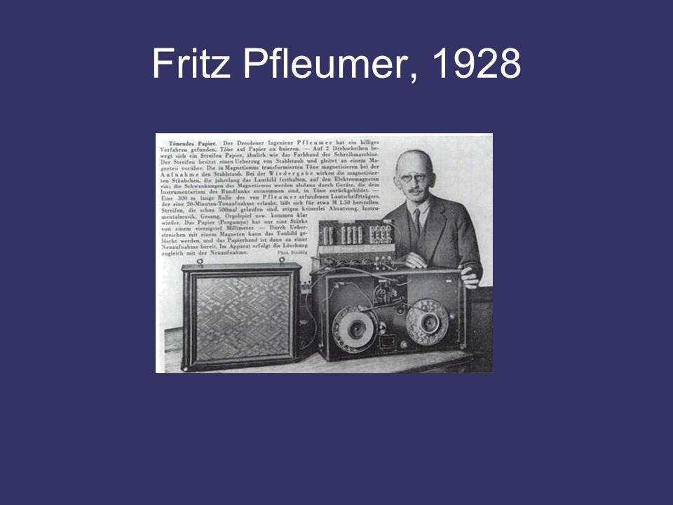 Fritz Pfleumer, 1928