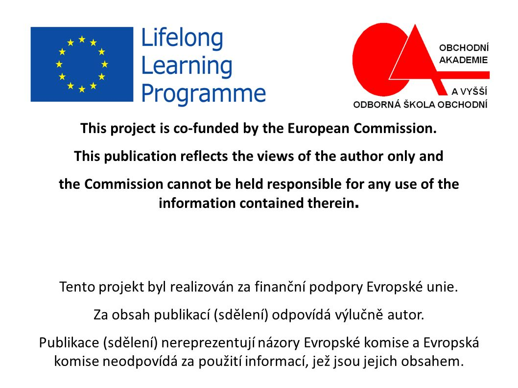This project is co-funded by the European Commission.