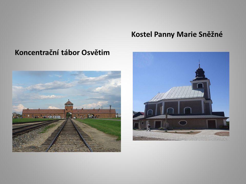 Koncentrační tábor Osvětim Kostel Panny Marie Sněžné