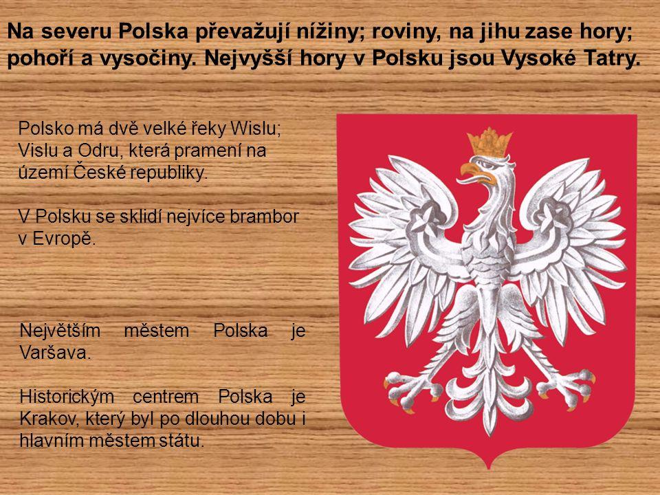 Na severu Polska převažují nížiny; roviny, na jihu zase hory; pohoří a vysočiny. Nejvyšší hory v Polsku jsou Vysoké Tatry. Polsko má dvě velké řeky Wi