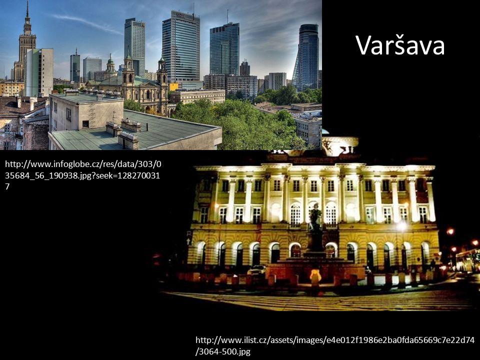 Varšavské staré město http://cs.wikipedia.org/wiki/Soubor:Var%C5%A1ava,_%C5%9Ar%C3%B3dmie%C5%9Bcie,_n%C3%A1m%C4%9Bst%C3%A D_Plac_Zamkowy,_r%C3%A1no.JPG