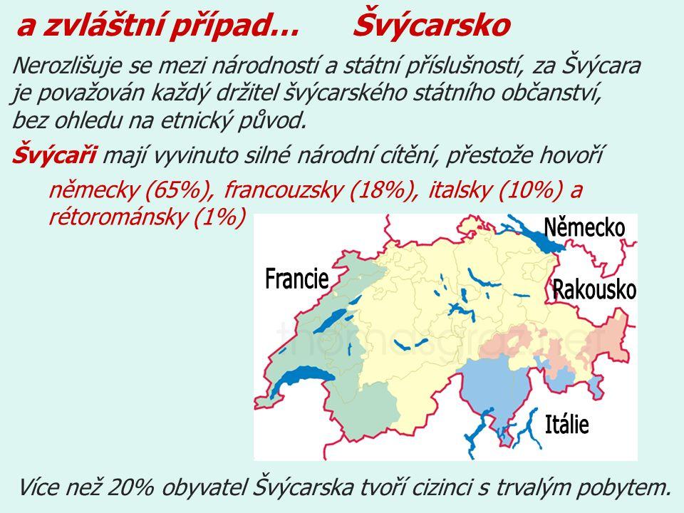 Nerozlišuje se mezi národností a státní příslušností, za Švýcara je považován každý držitel švýcarského státního občanství, bez ohledu na etnický původ.