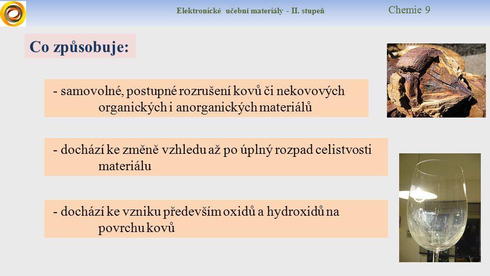 Elektronické učební materiály - II.stupeň Chemie 9 A co chemie.