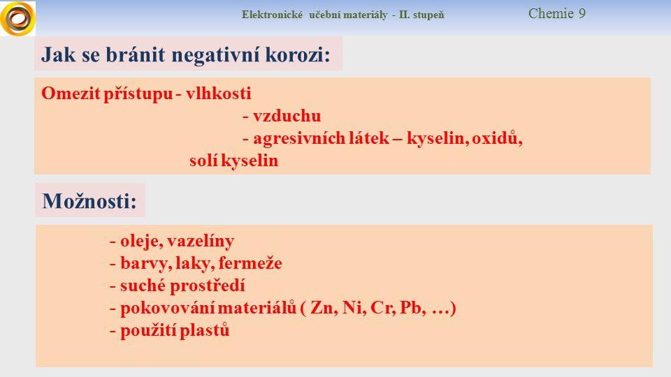 Elektronické učební materiály - II.stupeň Chemie 9 corrosion = ??.