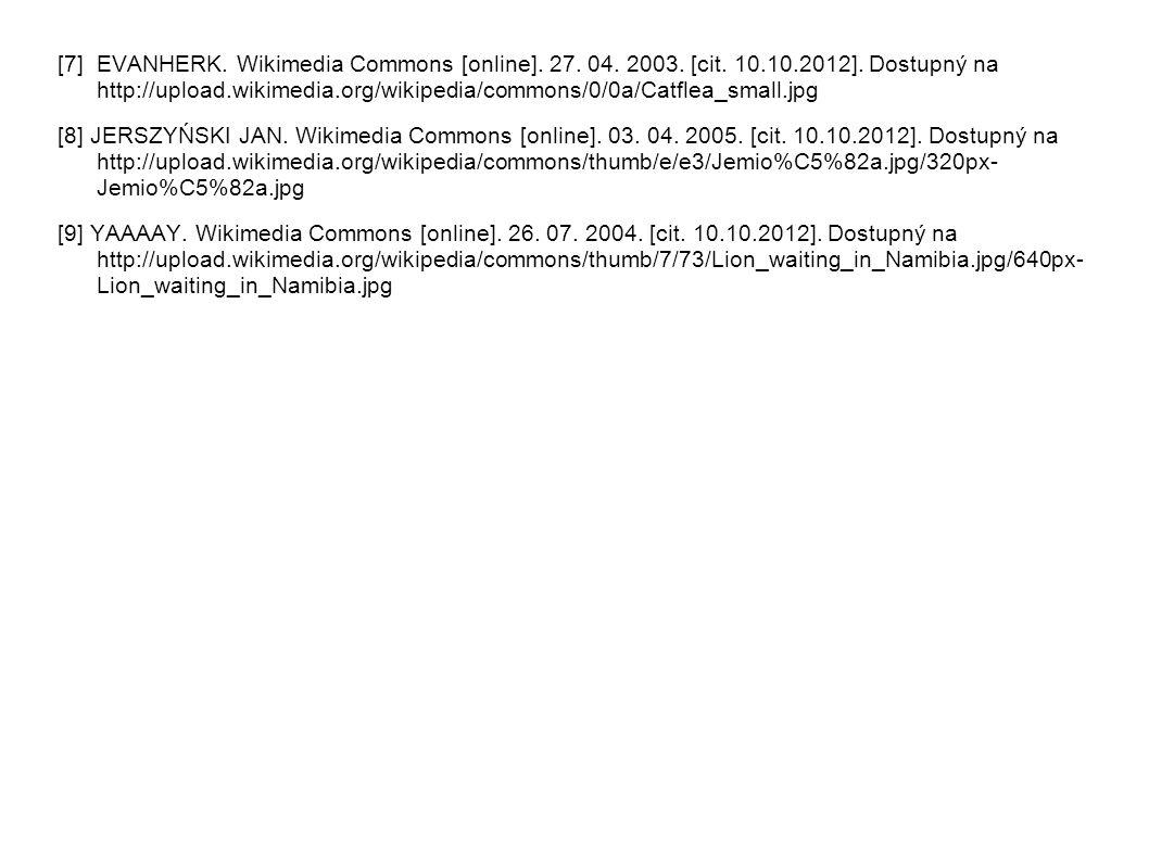 [7] EVANHERK. Wikimedia Commons [online]. 27. 04. 2003. [cit. 10.10.2012]. Dostupný na http://upload.wikimedia.org/wikipedia/commons/0/0a/Catflea_smal