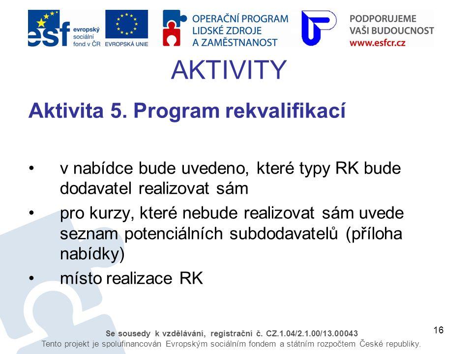 16 Se sousedy k vzdělávání, registrační č. CZ.1.04/2.1.00/13.00043 Tento projekt je spolufinancován Evropským sociálním fondem a státním rozpočtem Čes