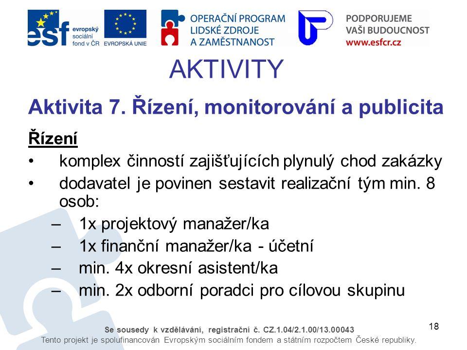 18 Se sousedy k vzdělávání, registrační č. CZ.1.04/2.1.00/13.00043 Tento projekt je spolufinancován Evropským sociálním fondem a státním rozpočtem Čes
