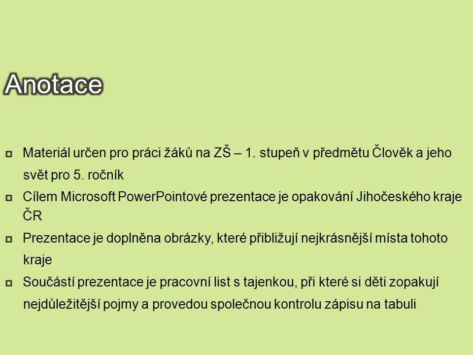 Datum vytvoření:  List č.7:  Opakování – Jihočeský kraj (znak, vlajka)  List č.
