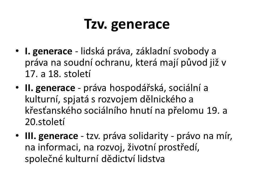 Tzv. generace I.