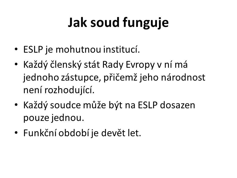 Jak soud funguje ESLP je mohutnou institucí.