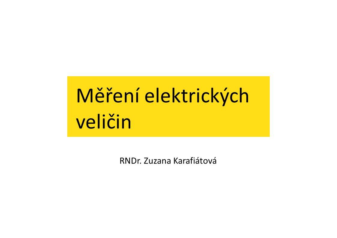 Měření elektrických veličin ŘEŠENÍ: ÚKOL Č.1: stejnosměrné napětí, rozsah max.
