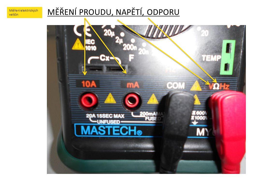 Měření elektrických veličin !!.POUČENÍ !!.