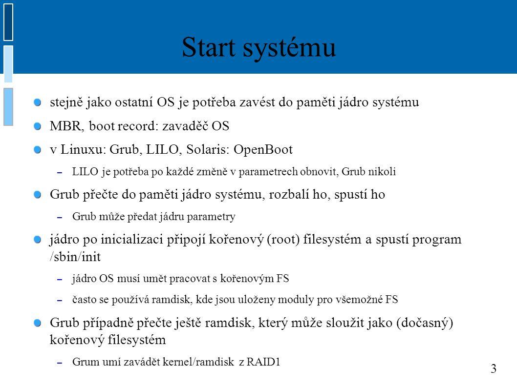 4 inittab místo initu je možné spustit jiný proces – např.