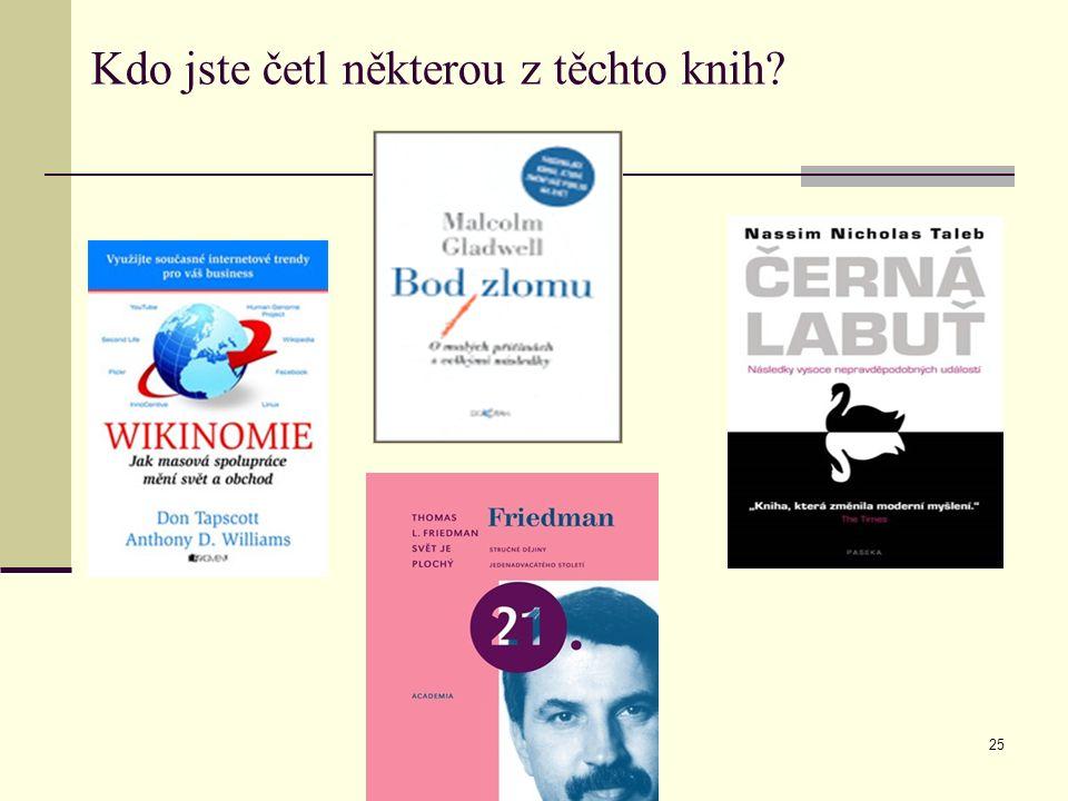 25 Kdo jste četl některou z těchto knih? CI MUVS
