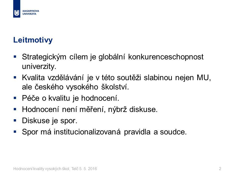 Hodnocení kvality vysokých škol, Telč 5. 5.