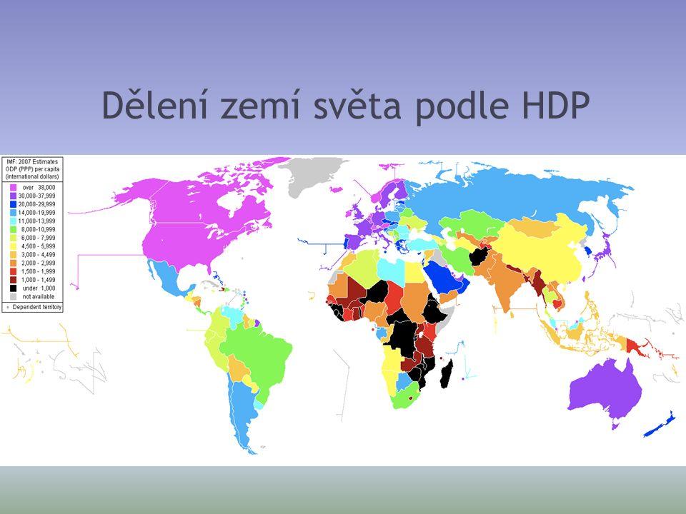 Dělení zemí světa podle HDP