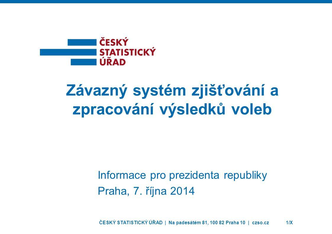ČESKÝ STATISTICKÝ ÚŘAD | Na padesátém 81, 100 82 Praha 10 | czso.cz1/X Informace pro prezidenta republiky Praha, 7.