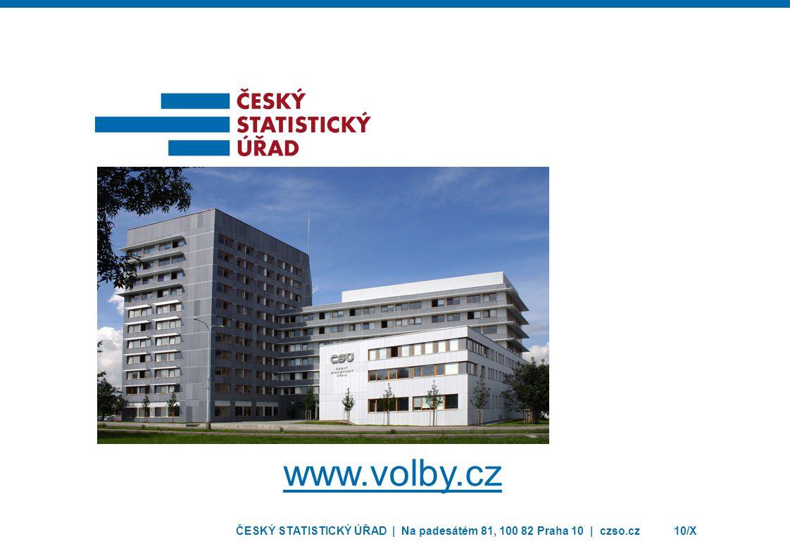 ČESKÝ STATISTICKÝ ÚŘAD | Na padesátém 81, 100 82 Praha 10 | czso.cz10/X www.volby.cz