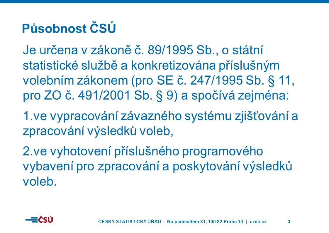 ČESKÝ STATISTICKÝ ÚŘAD | Na padesátém 81, 100 82 Praha 10 | czso.cz3 Působnost ČSÚ Je určena v zákoně č.