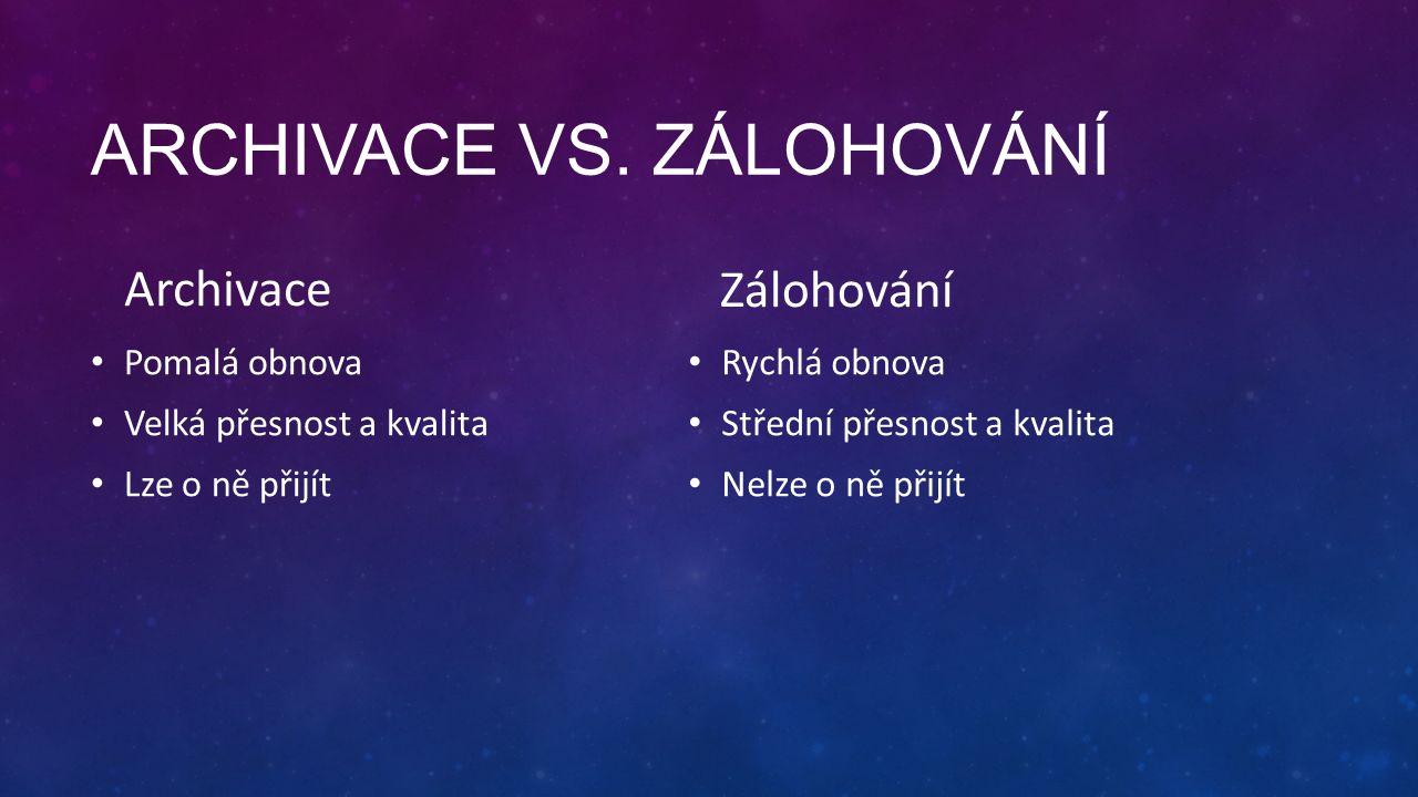 ARCHIVACE VS.