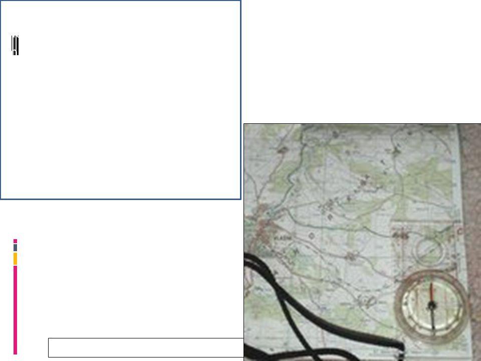28.9.2016 Orientace mapy Na mapu se přiloží buzola tak, aby mřížka mapy (směr sever - jih) byla rovnoběžná s dlouhým okrajem buzoly.
