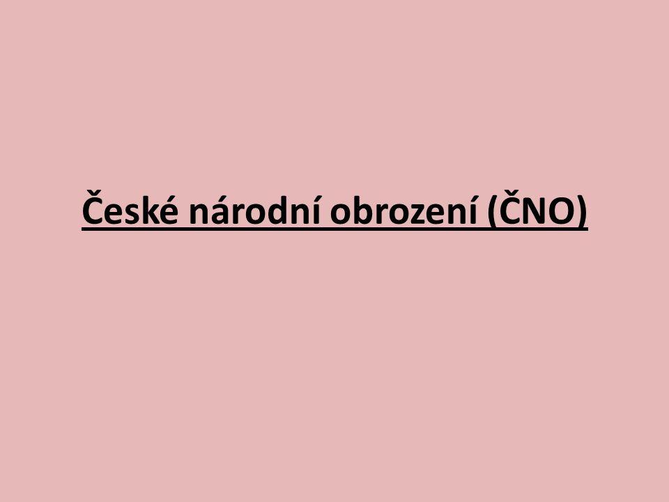 České národní obrození (ČNO)