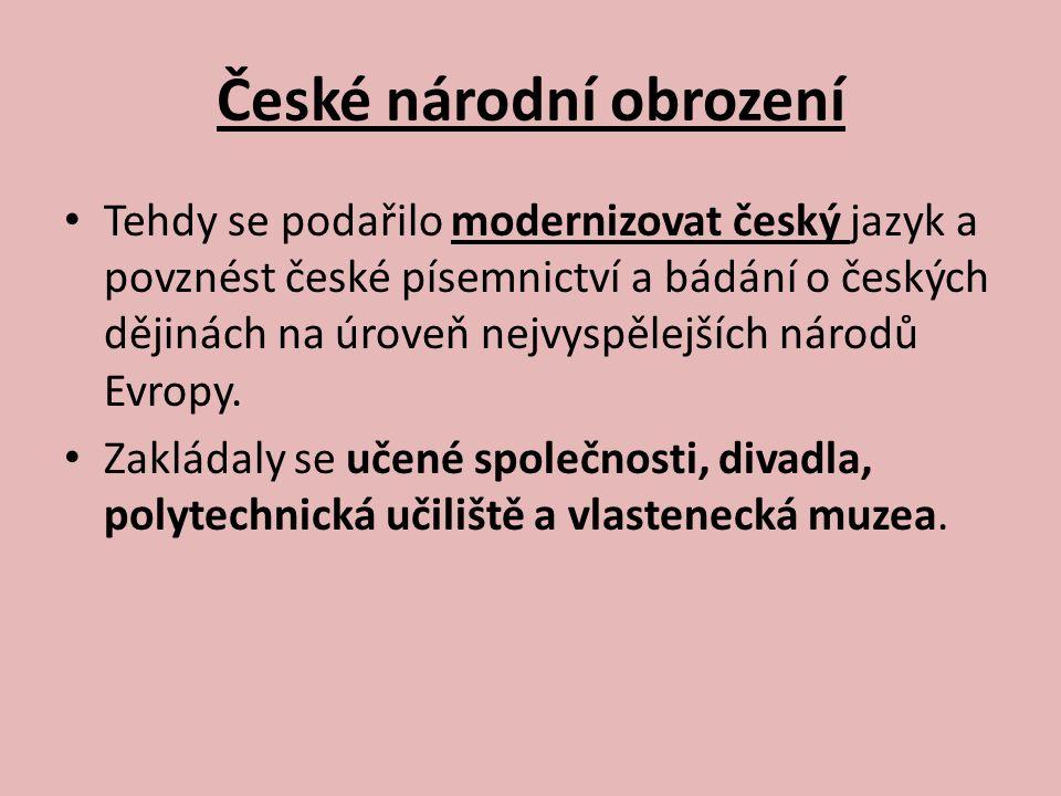 Matice česká Na počátku 30.let 19.