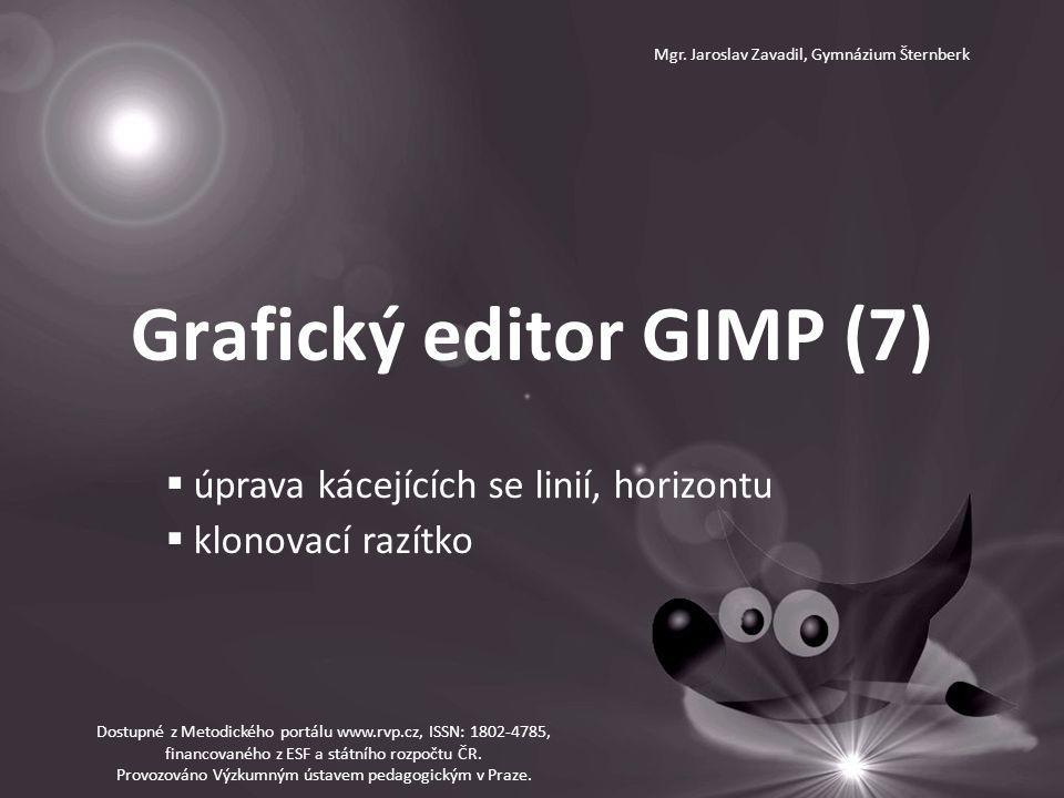 Grafický editor GIMP (7) Mgr.