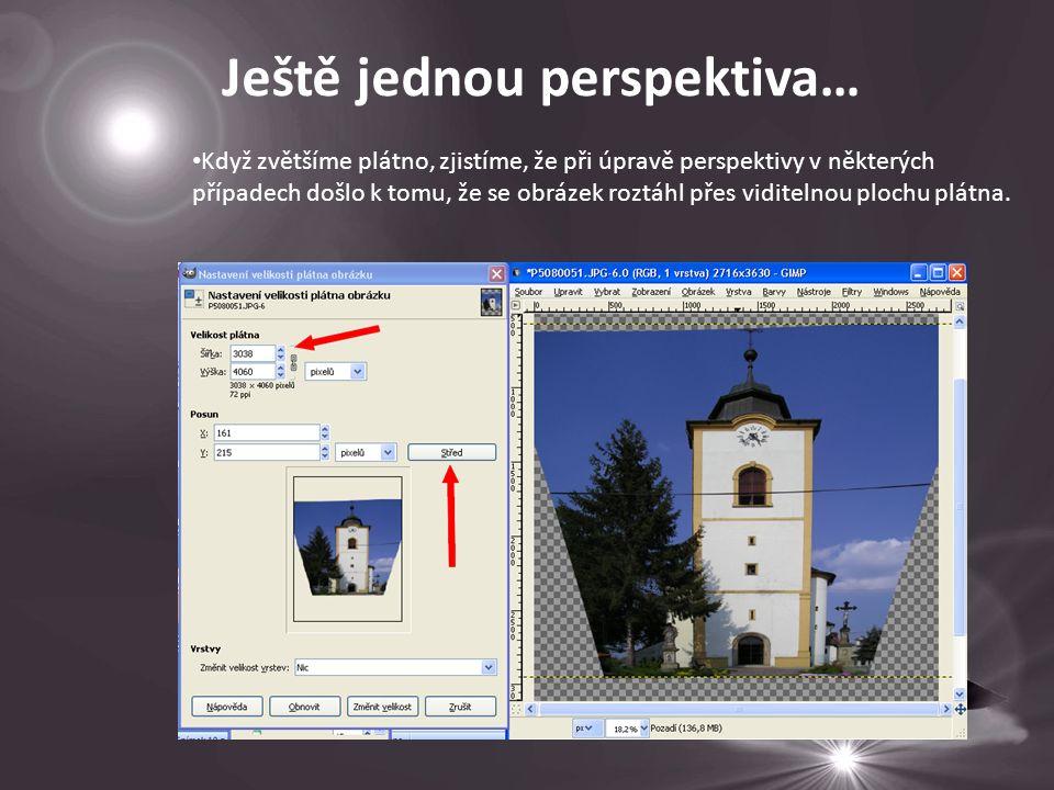 Když zvětšíme plátno, zjistíme, že při úpravě perspektivy v některých případech došlo k tomu, že se obrázek roztáhl přes viditelnou plochu plátna.