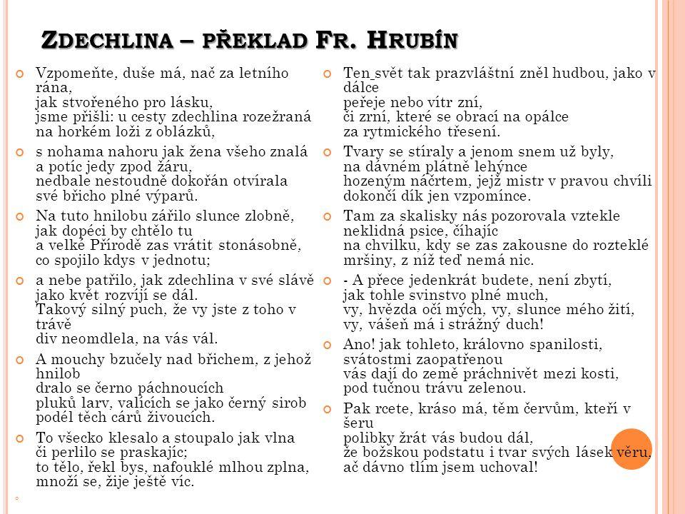 Z DECHLINA – PŘEKLAD F R.