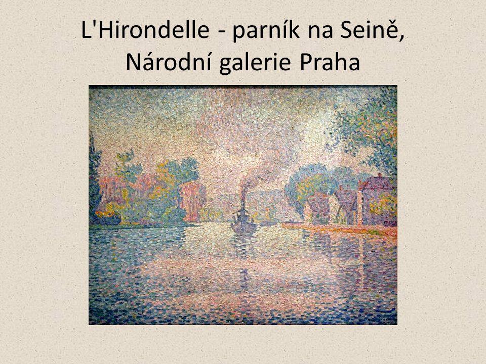 L Hirondelle - parník na Seině, Národní galerie Praha