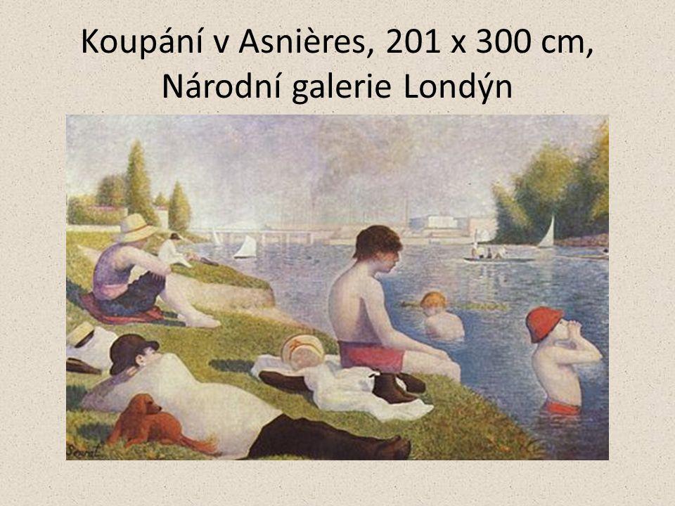 Koupání v Asnières, 201 x 300 cm, Národní galerie Londýn