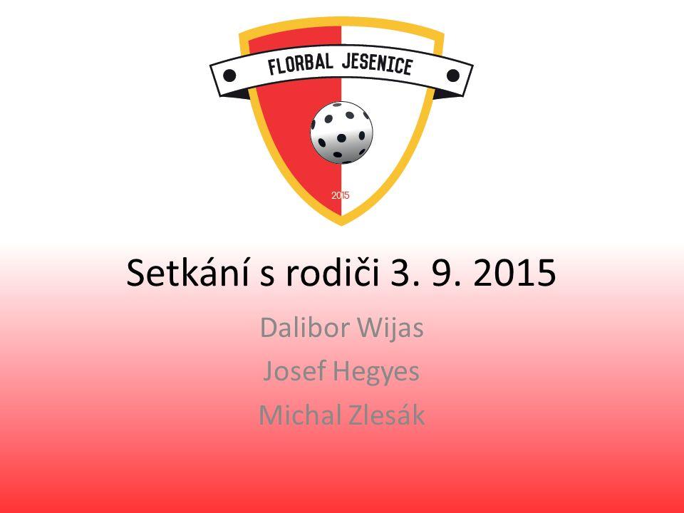 Setkání s rodiči 3. 9. 2015 Dalibor Wijas Josef Hegyes Michal Zlesák